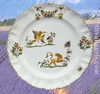 ASSIETTE MODELE LOUIS XV DECOR TRADITION VIEUX MOUSTIERS