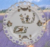 ASSIETTE MODELE TOURNESOL DECOR TRADITION VIEUX MOUSTIERS