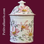 UHO MODEL BATHROOM POT SIZE 1 PINK FLOWER DECOR