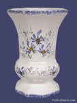 CERAMIC VASE MEDICIS MODEL MEDIUM SIZE BLUE FLOWERS DECOR