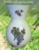 VASE FAIENCE MODELE NADINE TAILLE 1 DECOR GRAPPE DE RAISIN