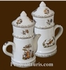 FAIENCE COFFEE POT OLD MOUSTIERS TRADITION DECORATION