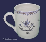CHOPE-MUG DECOR TRADITION VIEUX MOUSTIERS BLEU