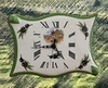 FAIENCE WALL CLOCK PARCHMENT MODEL OLIVE-TREE PROVENCE PAINT
