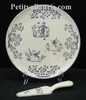 PLAT A TARTE DECOR TRADITION VIEUX MOUSTIERS BLEU