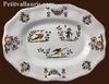PLAT OVALE DE STYLE LOUIS XV DECOR TRADITION VIEUX MOUSTIERS