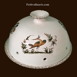 CHEESE COVER MISTERS WITH PLATE OLD MOUSTIERS TRADITION DECO