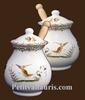 MUSTARD POT JAR MODELE OLD MOUSTIERS DECORATION