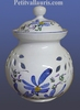 CERAMIC ONIONS POT BLUE FLOWER COLOR DECORATION