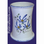 BIG USTENSILS KITCHEN CERAMIC SUPPORT BLUE FLOWERS DECO