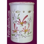 USTENSILS KITCHEN CERAMIC SUPPORT PINK FLOWERS DECORATION