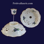 SUSPENSION CERAMIC BLUE OLIVES DECORATION DIAMETER 33 CM