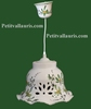 CERAMIC SUSPENSION LACE BELL MODEL GREEN FLOWERS DECOR
