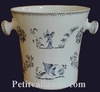 CHAMPAGNE BUCKET OLD MOUSTIERS BLUE TRADITION DECORATION