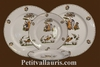 PLATE MARLY MODEL OLD MOUSTIERS TRADITION DECORATION