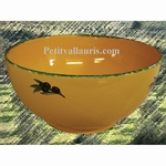 SALAD BOWL LARGE SIZE PROVENCAL COLOR WITH BLACK OLIVES