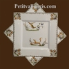 SQUARE PLATE OLD MOUSTIERS TRADITION DECORATION