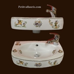 WASH HAND ULYSSE MODEL 25 x 41 MOUSTIERS TRADITION DECO