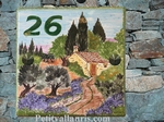 CUSTOMIZED CERAMIC HOUSE PLAQUE COUNTRYSIDE PROVENCALE