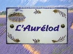 HOUSE PLAQUE RECTANGLE MODEL LAVENDERS FIELDS DECORATION