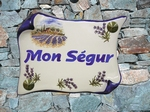 HOUSE PLAQUE PARCHMENT SMALL COTTAGE AND LAVENDERS FIELDS