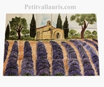 FRESCO WALL TILES CERAMIC DECOR CHAPEL AND LAVENDERS