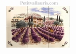 FRESQUE FAIENCE DECOR HAUTE PROVENCE N°3