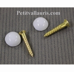 SCREWS AND PROTECTION'S SCREWS HEAD IN PORCELAIN (BATCH OF 2