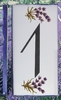 HOME ADDRESS NUMBERS (1) TO UNIT LAVENDERS DECORATION