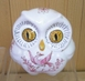 SMALL SIZE OWL OLD MOUSTIERS PINK DECOR