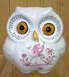 OWL SMALL SIZE MONEYBOX OLD MOUSTIERS PINK DECOR