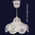 SUSPENSION FACETTE DECOR TRADITION VIEUX MOUSTIERS BLEU