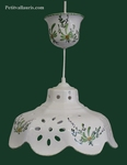 CERAMIC SUSPENSION FACETS GREEN FLOWERS