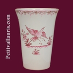 GLASS TRADITION OLD PINK MOUSTIERS DECORATION
