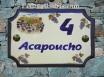 HOME PLAQUE STYLE MODEL LAVENDERS & GRAPPES DECORATION