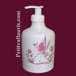 LIQUID SOAP DISPENSER OLD MOUSTIERS PINK DECORATION