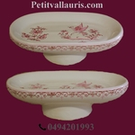 PORTE SAVON MODELE ANNEAU DECOR TRADITION VX MOUSTIERS ROSE