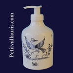 LIQUID SOAP DISPENSER OLD MOUSTIERS BLUE DECORATION