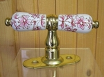 HANDLE WINDOWS BRASS (SIZE AND FIXING STANDART) PINK COLOR