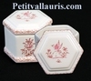 LIMP HEXAGONAL MODEL OLD MOUSTIERS PINK TRADITION DECOR
