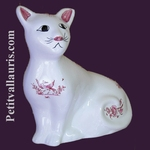 CAT MODEL MISTIGRI PINK OLD MOUSTIERS TRADITION DECORATION
