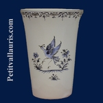 GLASS TRADITION OLD BLUE MOUSTIERS DECORATION