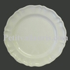CERAMIC PLATE LOUIS XV MODEL ENAMELED WHITE COLOR