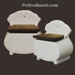 CERAMIC SALT BOX ENAMELLED WHITE COLOR