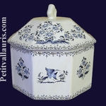 LIMP OCTAGONAL BLUE OLD MOUSTIERS TRADITION DECORATION