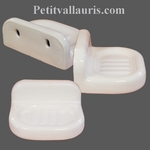 WALL MODEL CARRY SOAP WHITE COLOR ENEMALLED