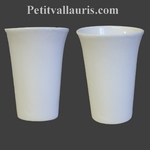 VERRE A DENTS EMAILLE UNI BLANC