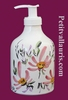 LIQUID SOAP DISPENSER PINK FLOWER DECORATION