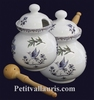 POT A OLIVES DECOR TRADITION VX MOUSTIERS BLEU AVEC LOUCHE