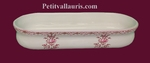 OVAL POT PENCILS OLD MOUSTIERS PINK DECORATION